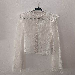 NWT Stone Cold Fox Lace Blouse